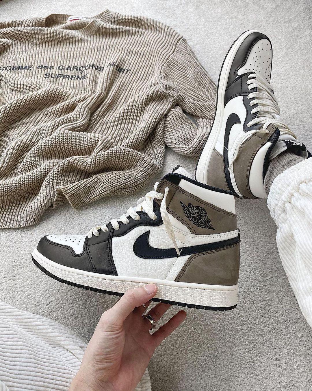 Air Jordan 1 High Dark Mocha Black 555088-105   Nike shoes jordans ...