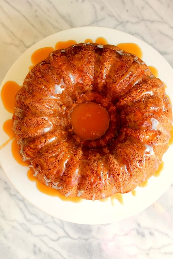 Apple Pecan Bundt Cake with Salted Caramel Drizzle > Michigan Apple Committee