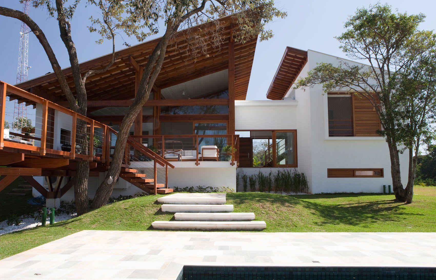 Hermosa fachada de casa de campo moderna arquitectura - Casas bonitas de campo ...
