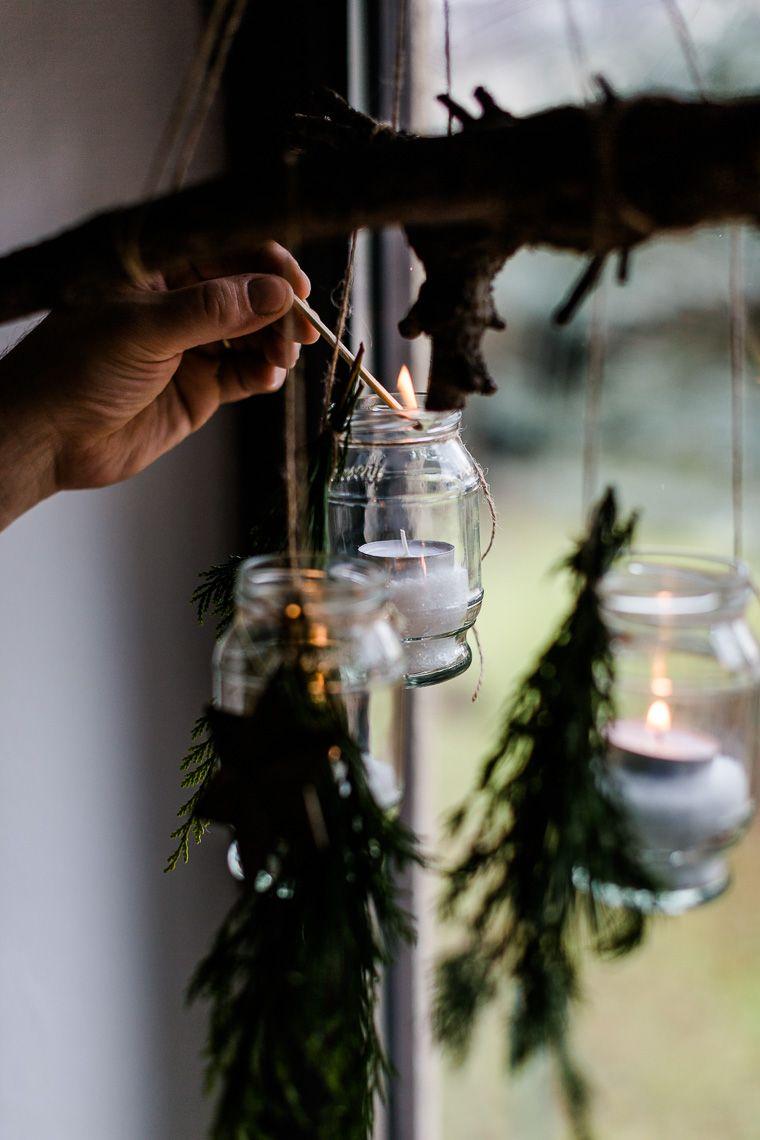Weihnachtsmenü Hauptgang {Schweinefilet mit Ahornsirup-Senf-Glasur} + Senfglas Upcycling Idee #weihnachtsdekodiyfenster