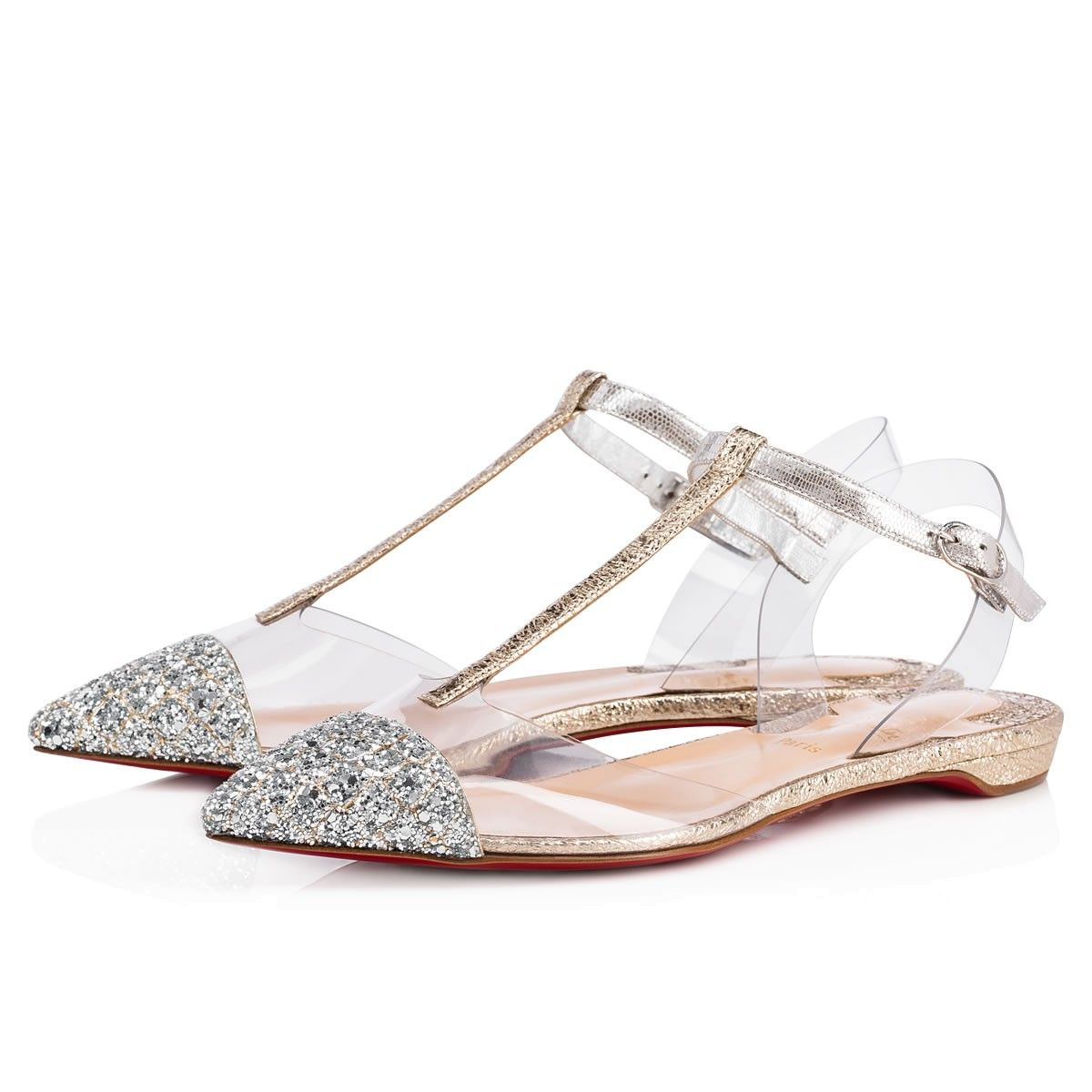 b6813905381 Shoes - Nosy Flat - Christian Louboutin | Special Day// | Silver ...