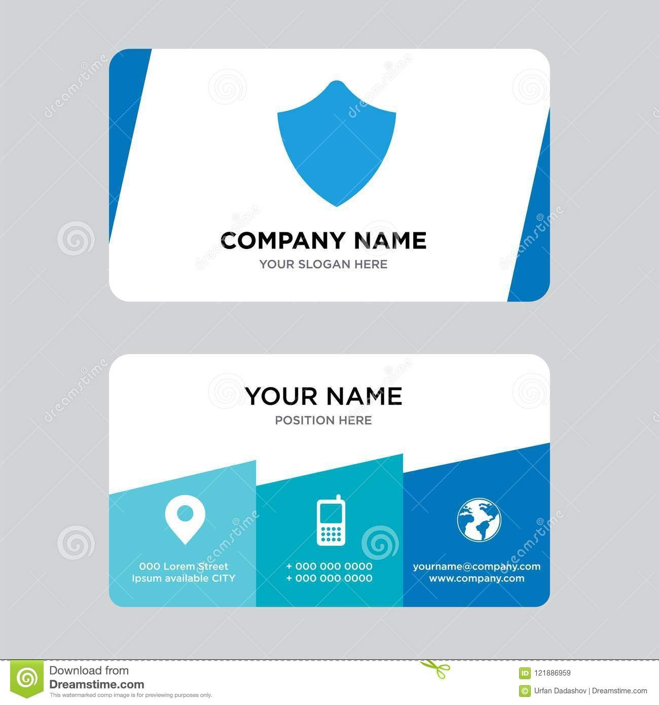 Shield Business Card Design Template Visiting For Your Pertaining To Shield Id Card Templa Business Card Template Design Id Card Template Business Card Design