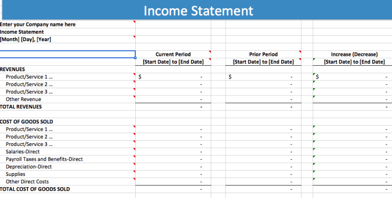 Free Profit And Loss Statement Template 5 Free Income Statement Examples And Templates