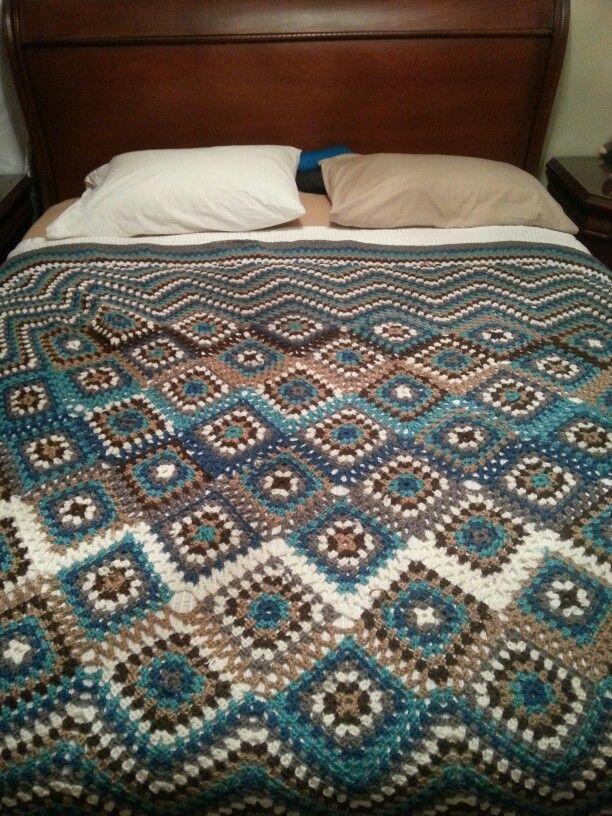 Cubrecama tejido en crochet | CROCHET BEDSPREAD / BLANKET | Pinterest