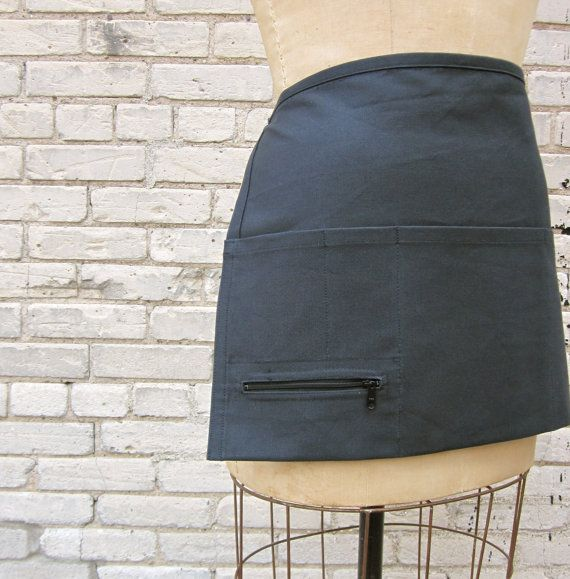 Server apron with black zipper pocket  $20