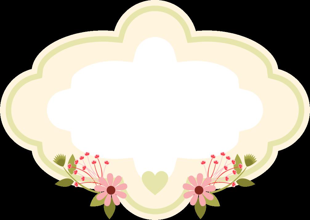 Frame floral em png para baixar   Borders and frames   Pinterest ...