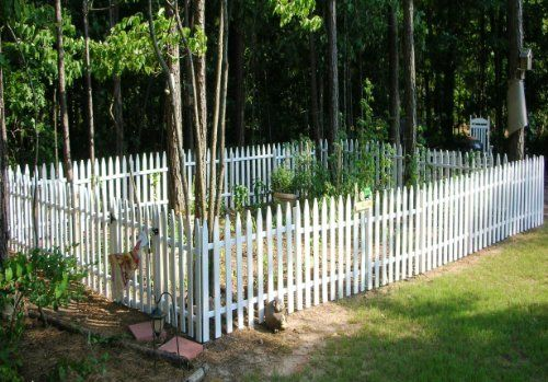 Amazoncom Build Your Own WOOD Picket Garden Fence Garden CIVIL