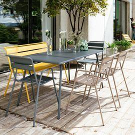 salon de jardin fermob monceau table l146 l80cm 6 chaises
