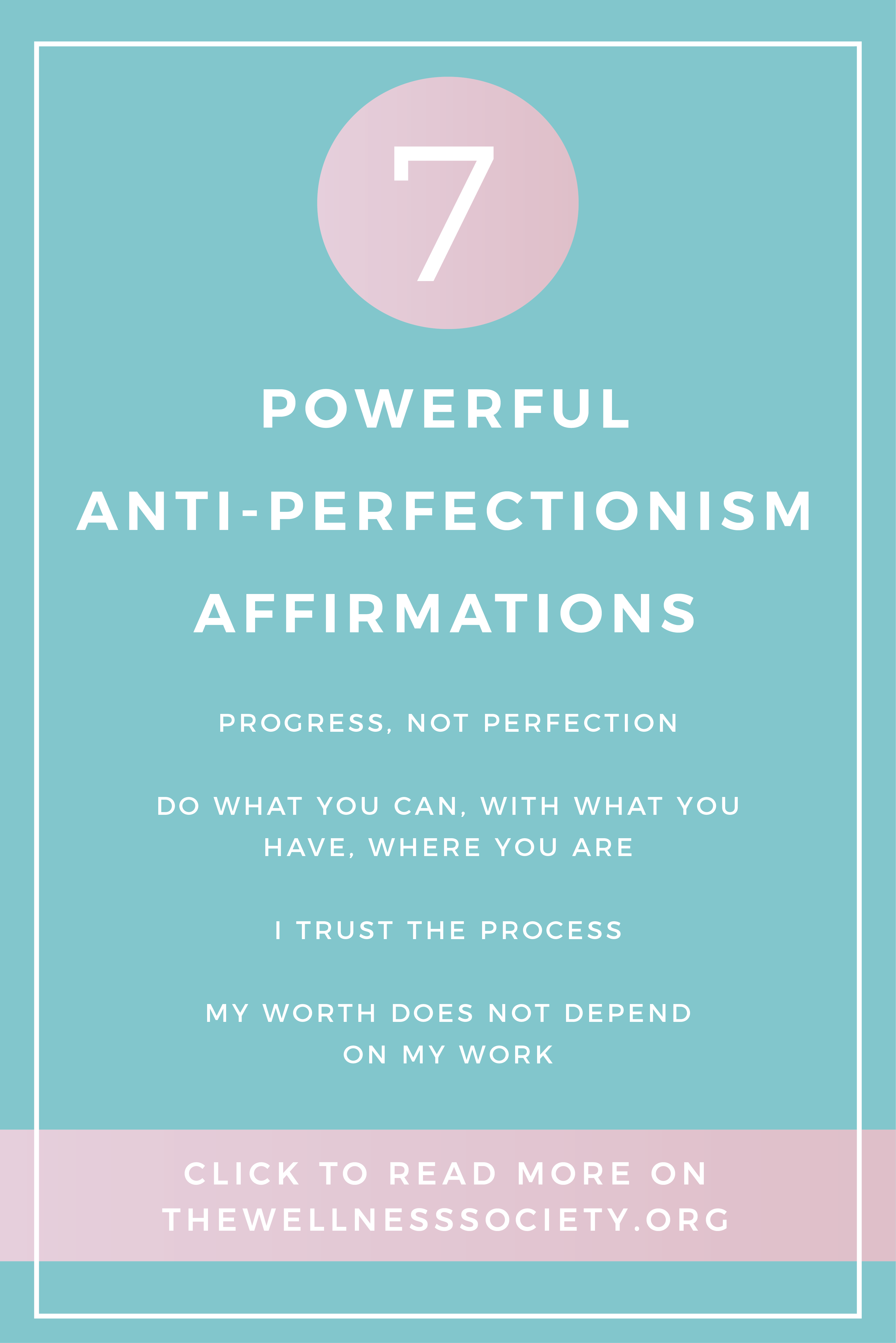 3 Ways To Overcome Perfectionism Affirmations Cognitive