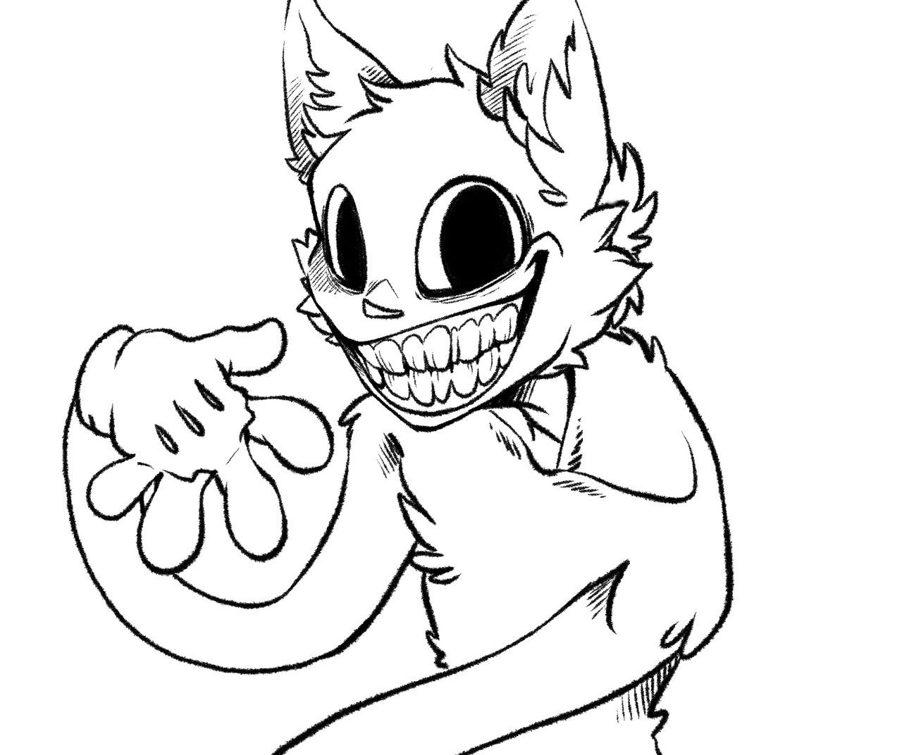 Can you draw cartoon cat made by Trevor Henderson