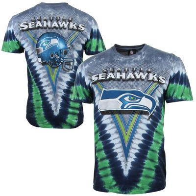 37715df5 Seattle Seahawks Tie-Dye Premium T-Shirt - Gray/College Navy ...