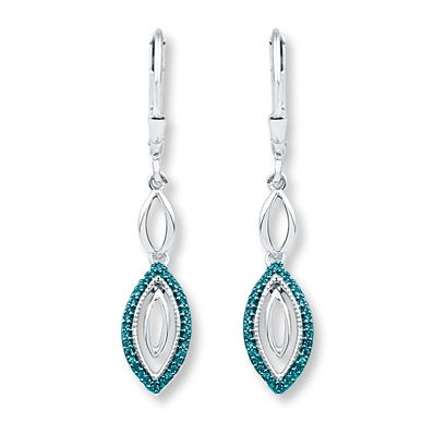 6f22b86c0 Blue Diamond Earrings 1/5 ct tw Round-cut Sterling Silver | Products ...