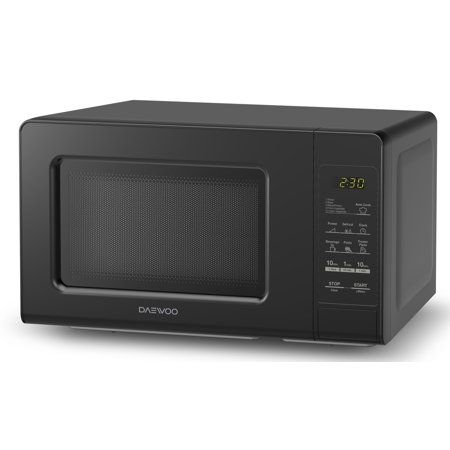 Daewoo Kor 760eb Countertop Microwave Oven 0 7 Cu Ft 700w Black