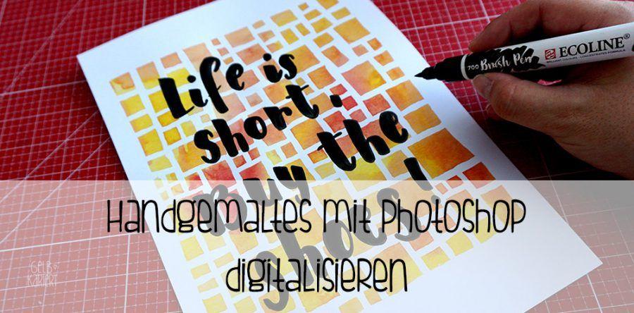 Tutorial Handgemaltes Mit Photoshop Digitalisieren
