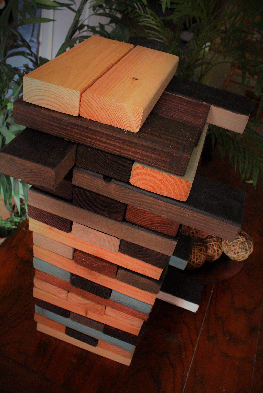 Giant Wood Stacking Blocks Tumbling Tower Game Stacking Blocks  # Muebles Carreiro