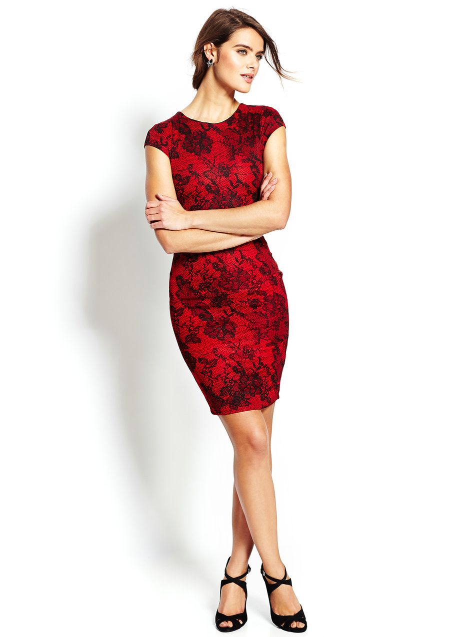 ideeli | WOW COUTURE Cap Sleeve Lace Sheath Dress