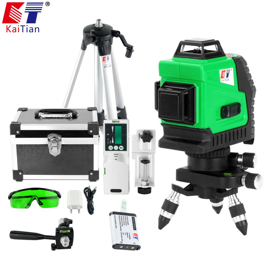 Us 319 89 Kaitian Tripod For Laser Level Self Levelling Green 12 Lines Construction Tools Construction Green Kaitian Laser Level Levelling Lines Sel