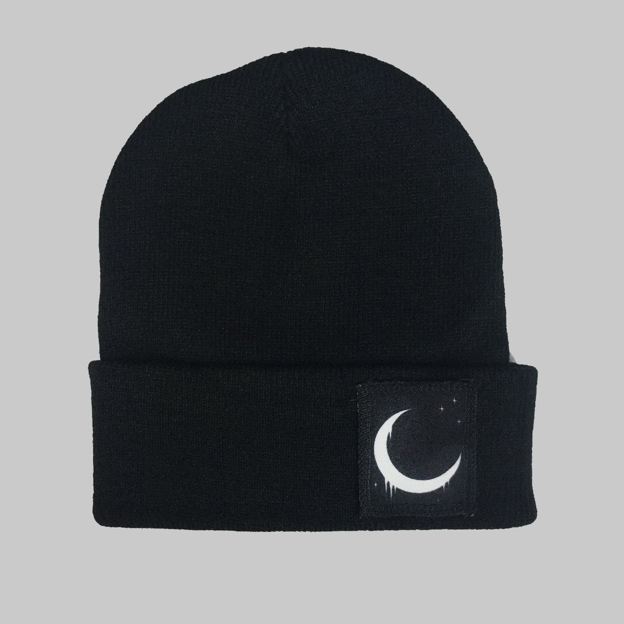 a02da44633a Crescent Moon Winter Beanie Headwear Hipster Indie Swag Dope Hype Black Hat  Beanie Mens Womens Cute Slouchy Hat Space Lunar Cycle by IIMVCLOTHING on  Etsy