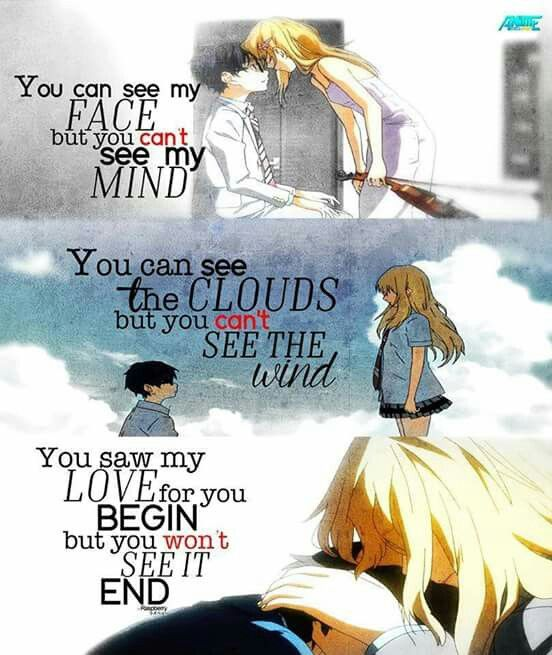 Your Lie In April Quote Quotes Pinterest Your Lie In April