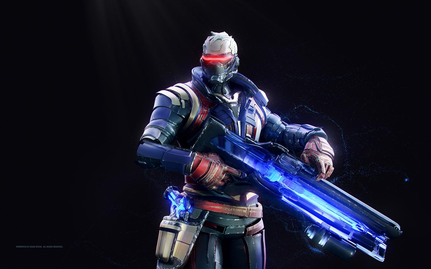 Overwatch On Behance Soldier 76 Overwatch Overwatch Wallpapers