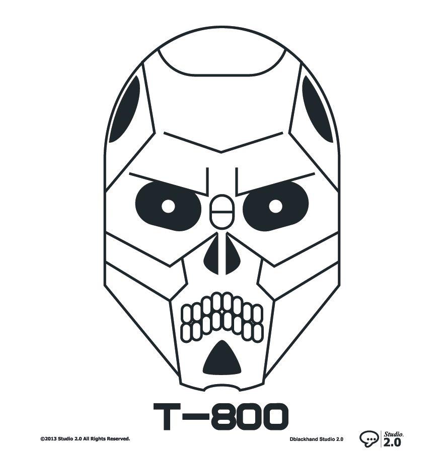 Terminator T 800 Dblackhand Studio2 0 Platamala Poster Vector Terminator Design Graphic Icon Icono T 800 Arte Grafico Diseno Grafico Arte