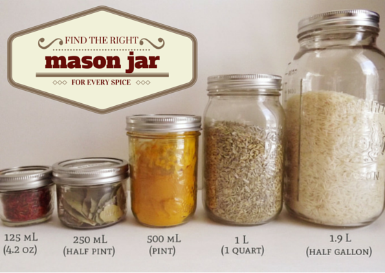 Organize Spices With Mason Jars