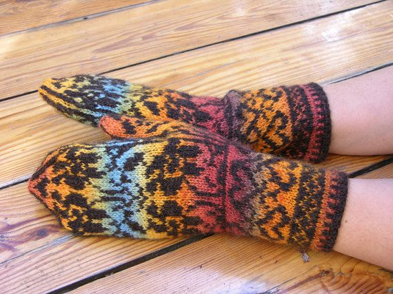 Fair Isle Gloves made in all natural wool. by ewelenka on Etsy ...