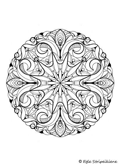 Coloring book for adults COLORS OF CALM by Egle Stripeikiene ...
