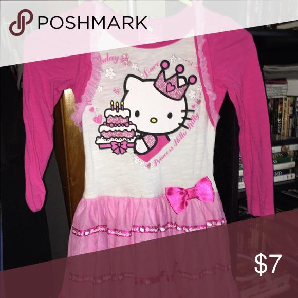 Hello Kitty Happy Birthday Dress Sz 6 Worn One Time