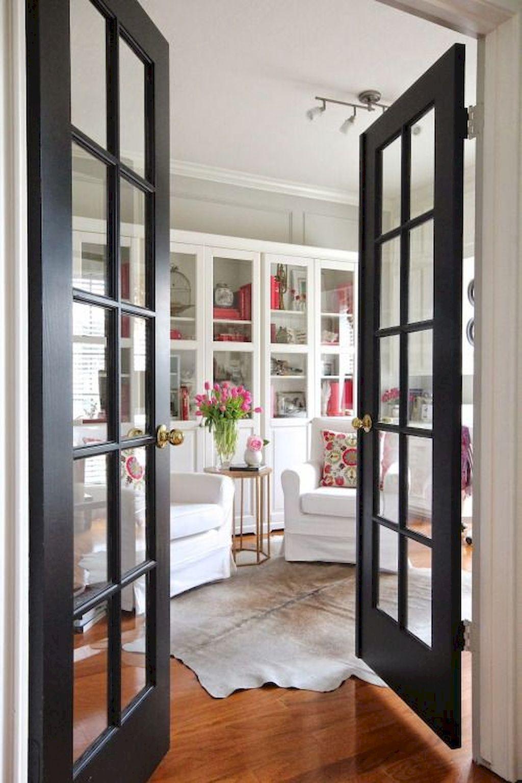 50++ Awesome Decorative Glass Doors Ideas Black interior