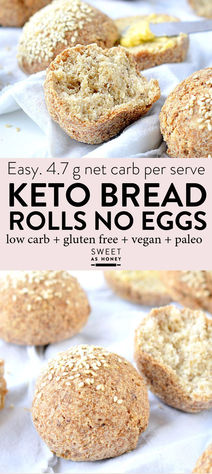 Keto Bread Rolls No Eggs Easy Low Carb Almond Flour Grain Free Rolls Glutenfree Vegano Keto Dieta Cetogenica Alimentos Alimentos Bajos En Carbohidratos
