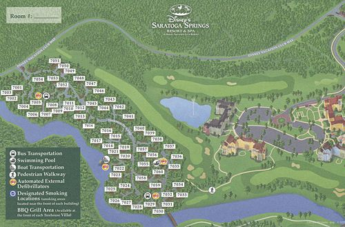 Treehouse Villas at Disney\'s Saratoga Springs Resort and Spa Map ...