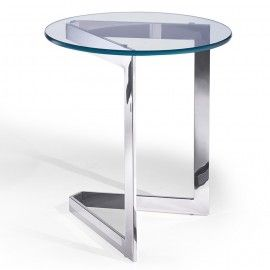 Modern Glass Rose Gold Side Table Cage Modern Side Tables Table
