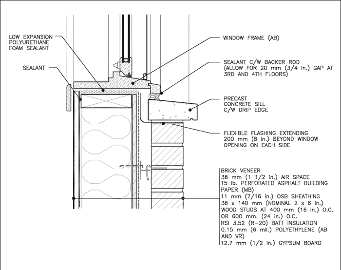 Course Id 113 Materials And Specifications Window Detail Detailed Drawings Interior Architecture Design