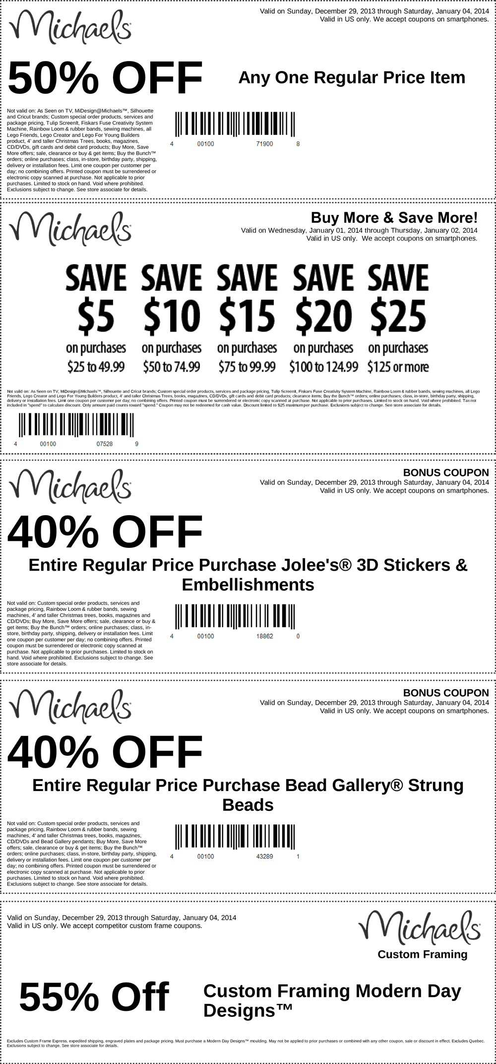 coupons - Michaels Framing Coupon