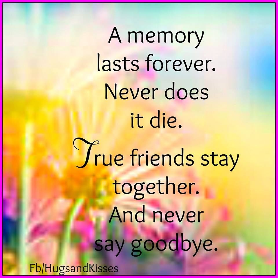 Quote To Friends About Friendship True Friends Stay Together And Never Say Goodye Life Quotes Quotes