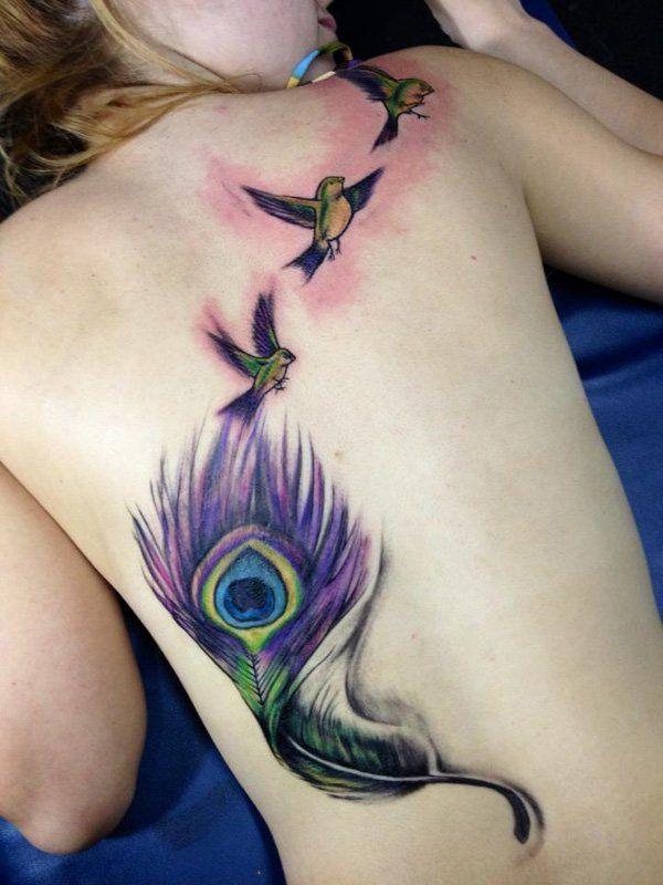 Tatuagem de Pena de Pavão
