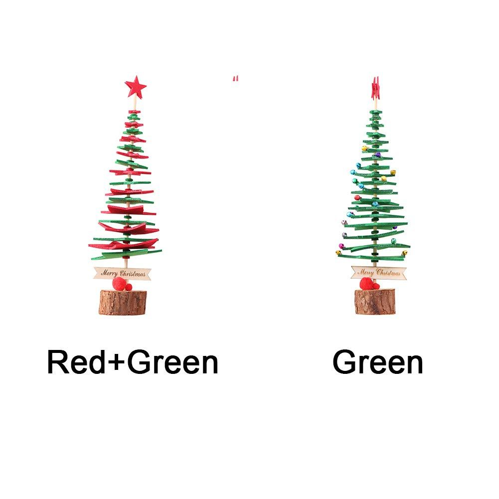 Yothg Diy Mini Christmas Tree Table Ornaments Home Party Decor Nonwoven Red Green To View F With Images Mini Christmas Tree Christmas Tree On Table Christmas Ornaments