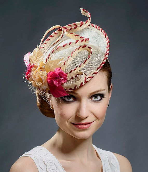 Champagne gold saucer hat for women 10fcef83f42
