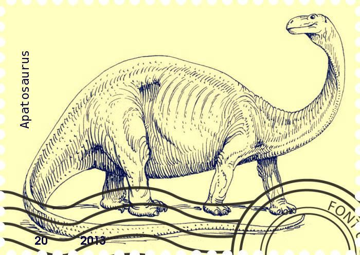 Stampede Beta Stamp Profile Apatosaurus Brontosaurus
