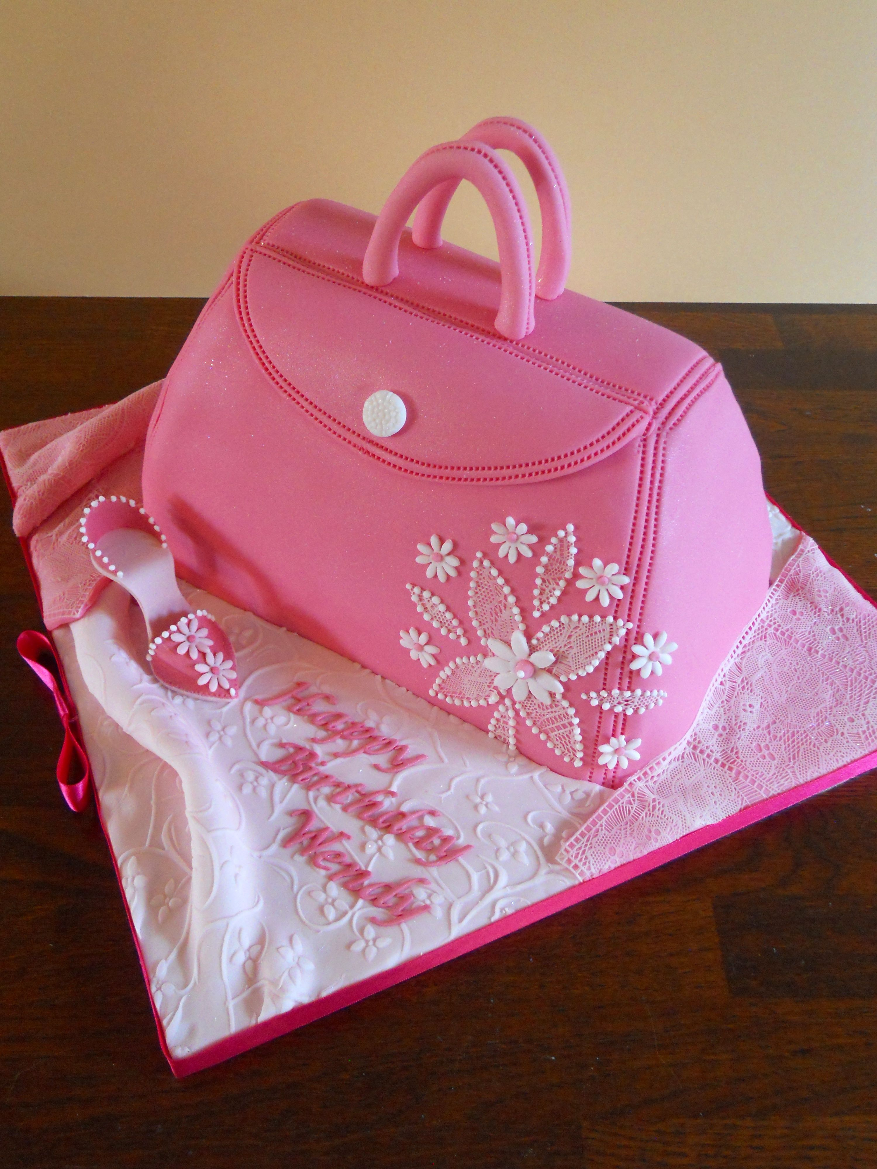 Pink Handbag Birthday Cake Coppertopcakes Favorite