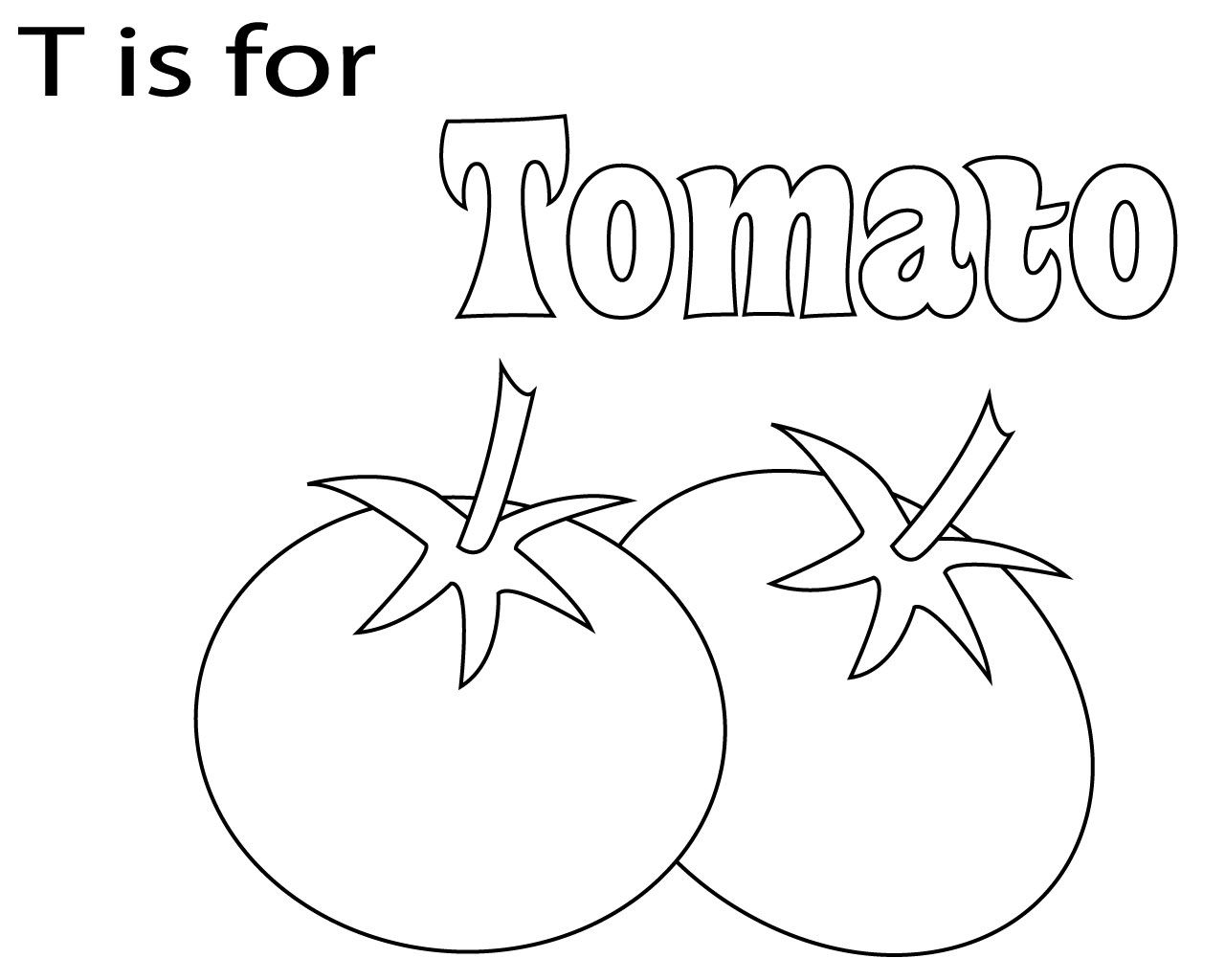 Best And Easy Letter T Coloring Page For Kids Coloring Pages