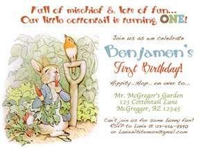 Cute Wording For Peter Rabbit Birthday Invite