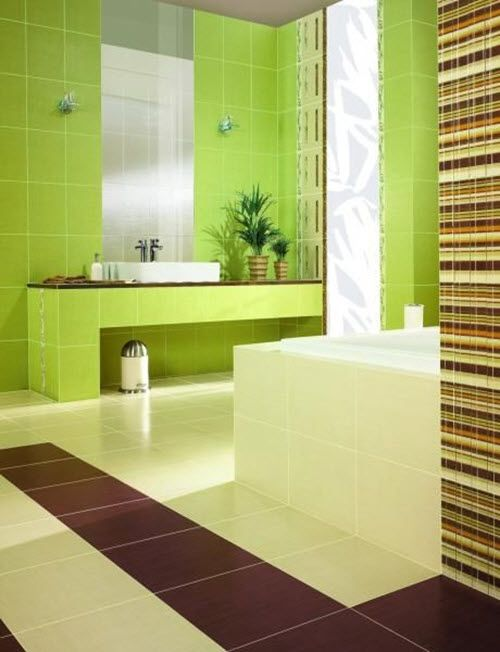 Green Bathroom With Modern And Cool Design Ideas Lime Green - Lime green bath mat for bathroom decorating ideas