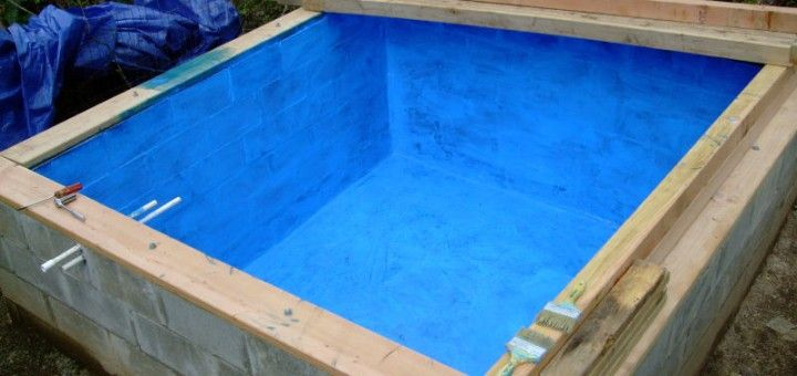 Building an underground cistern rain water collection