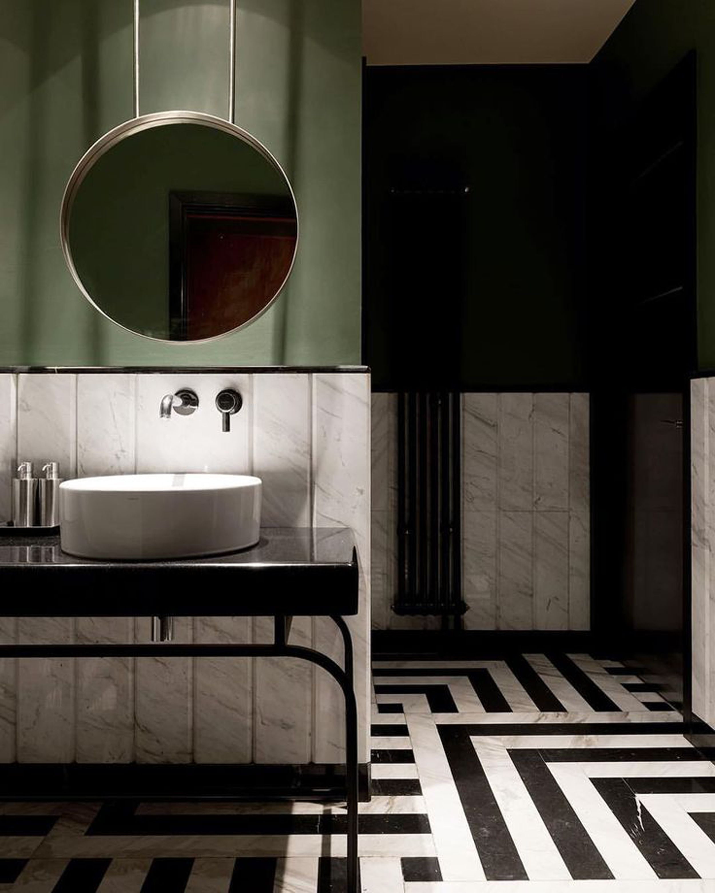 Bathrooms I Pinned For The Mountain Fixer And Why Green Bathroom Decor Olive Green Bathrooms Bathroom Interior