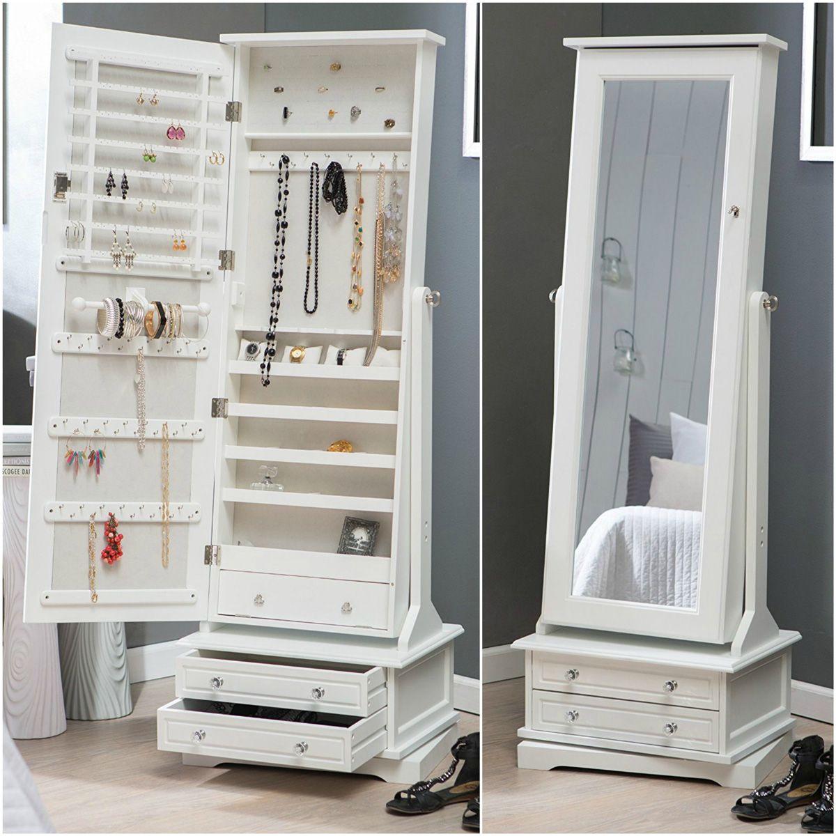 25 Beautiful Full Length Jewelry Armoires Zen Merchandiser Dressing Room Design Girl Bedroom Decor Dressing Table Design