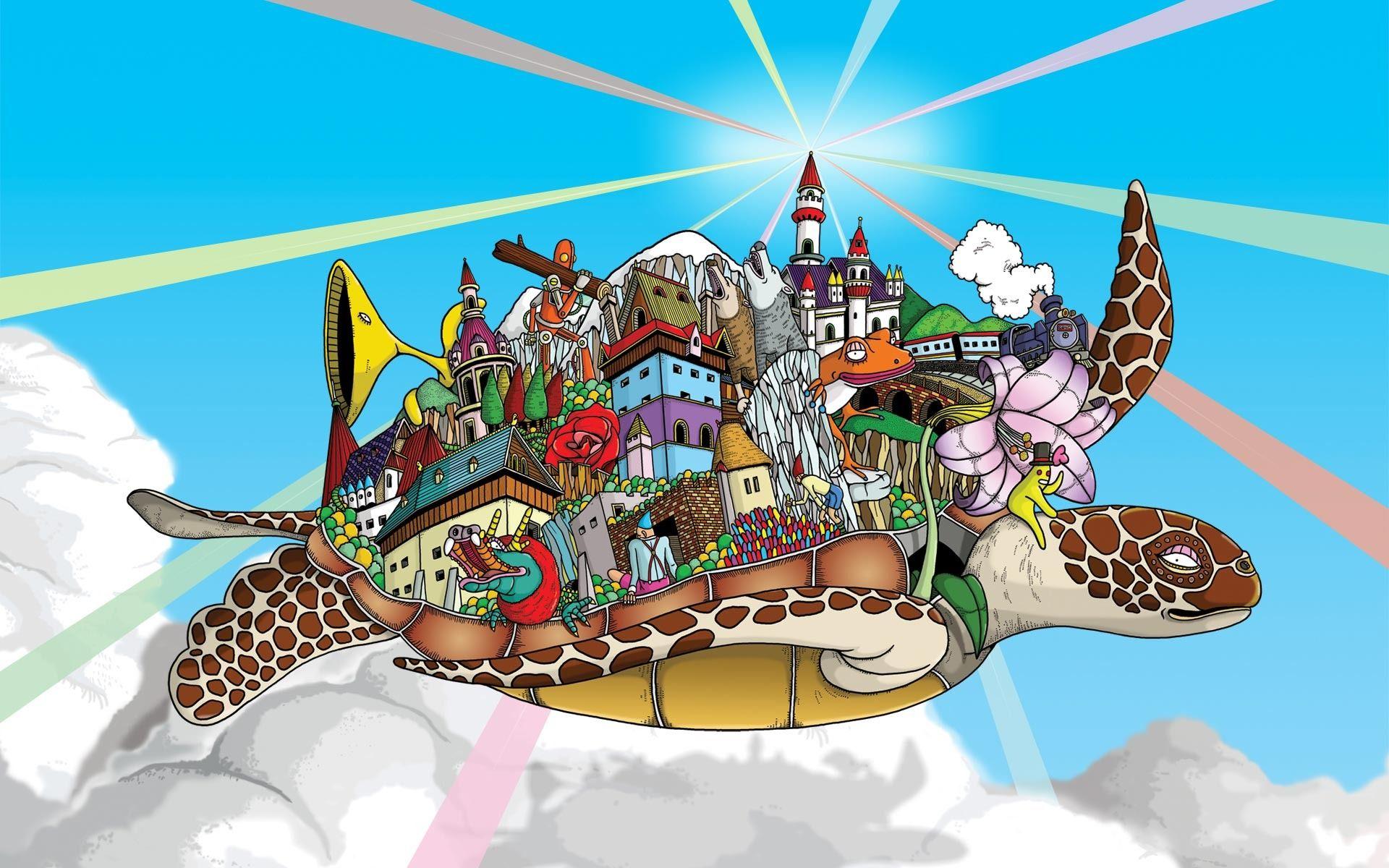 fantasy turtle Google Search Cartoon wallpaper