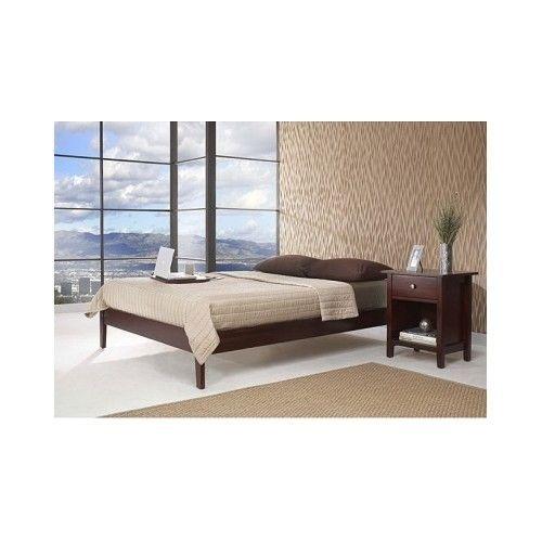 Twin Platform Bed Frame Modern Wood Contemporary Bedroom Furniture
