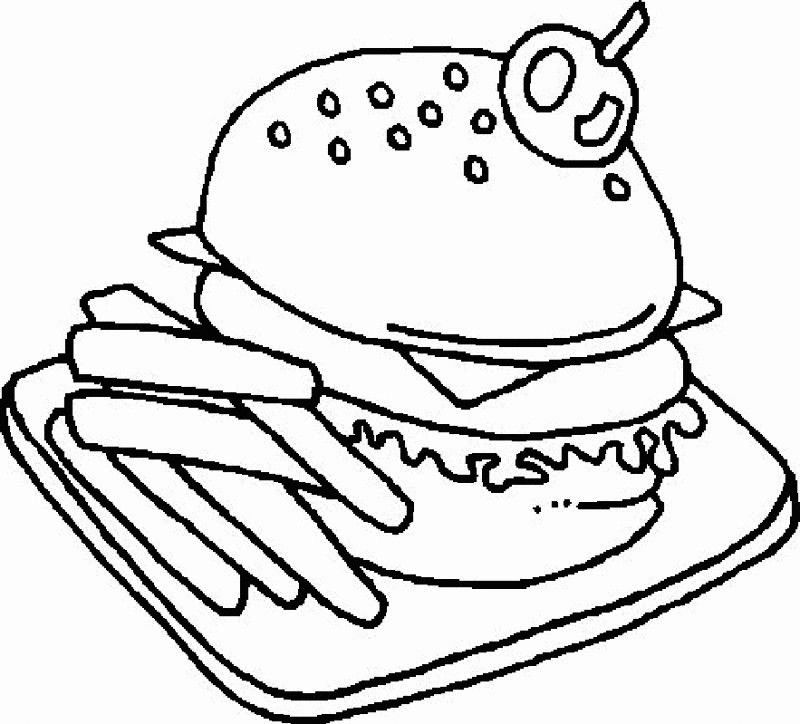 Hamburger Coloring Pages Best Coloring Pages For Kids Food Coloring Pages Coloring Pages Coloring Pages For Kids